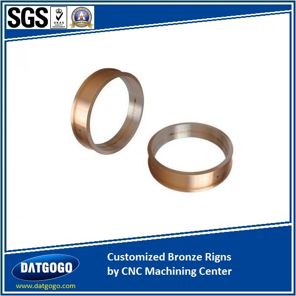 Customized Bronze Rigns by CNC Machining Center
