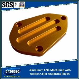 Aluminum CNC Machining with Golden Color Anodizing Finsih