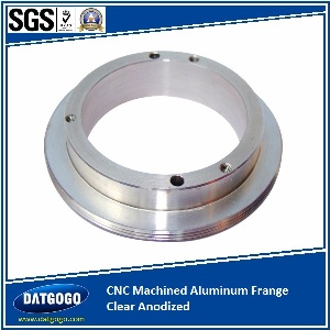CNC Machined Aluminum Frange Clear Anodized