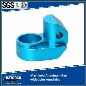 Machined Aluminum Part with Color Anodizing