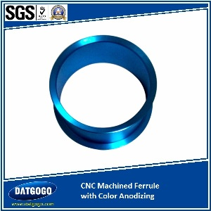 CNC Machined Ferrule with Color Anodizing