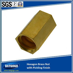 Hexagon Brass Nut with Pickling Finish