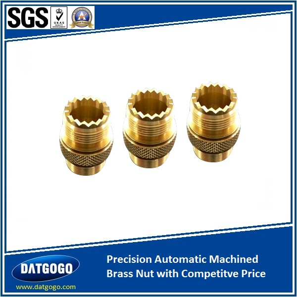 Precision Automatic Machined Brass Nut with Competitve Price