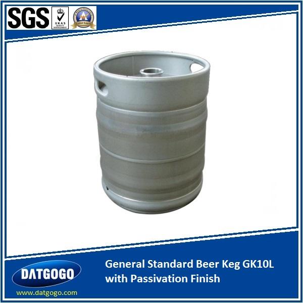 General Standard Beer Keg GK10L with Passivation Finish